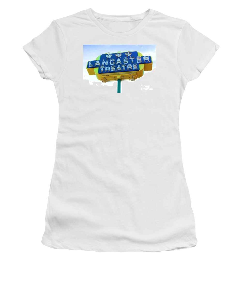 Sign Women's T-Shirt featuring the photograph Neon by Debbi Granruth
