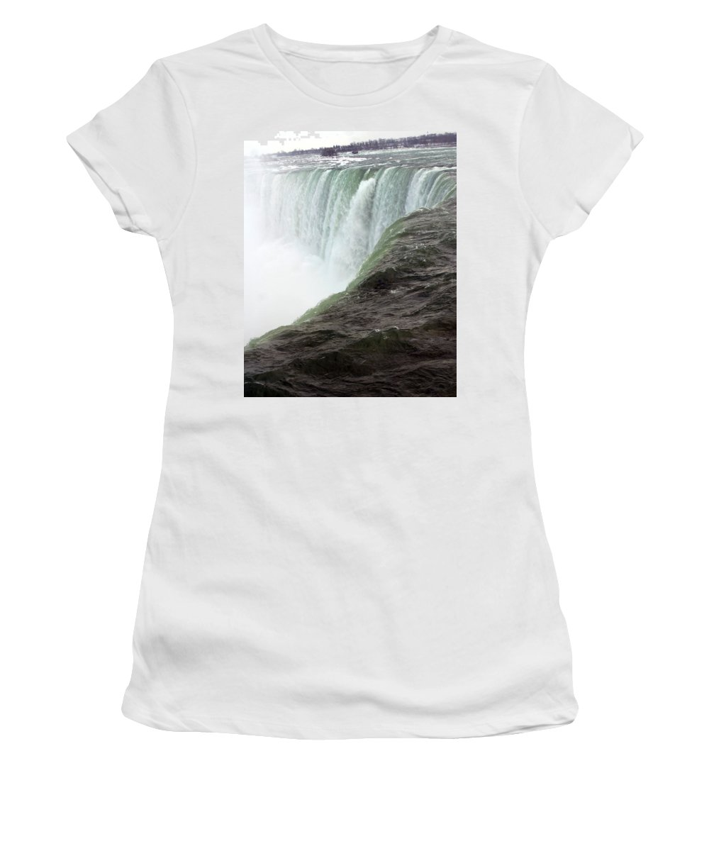 Niagara Falls Women's T-Shirt (Athletic Fit) featuring the photograph Niagara Falls 1 by Anthony Jones