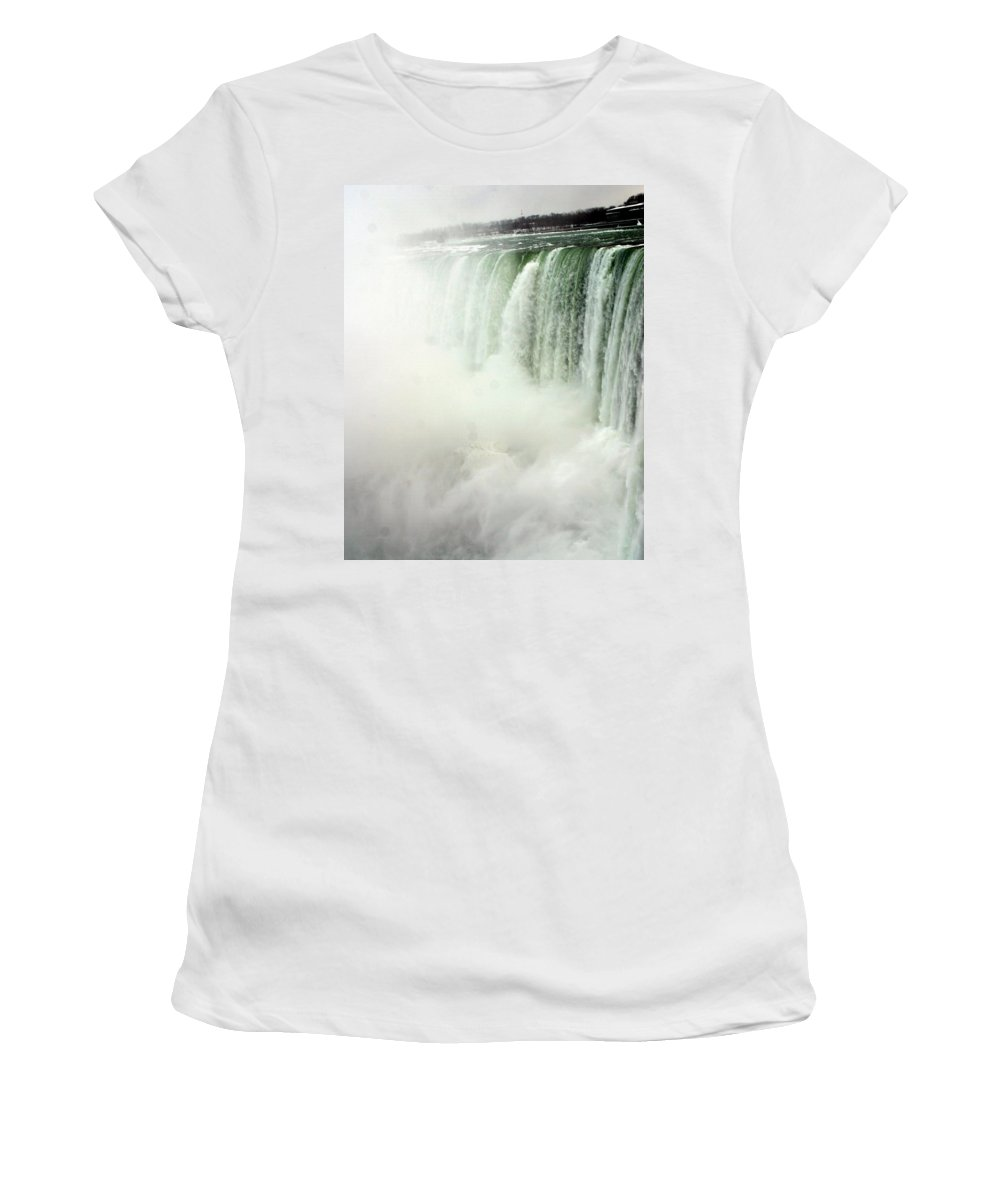 Landscape Women's T-Shirt (Athletic Fit) featuring the photograph Niagara Falls 4 by Anthony Jones