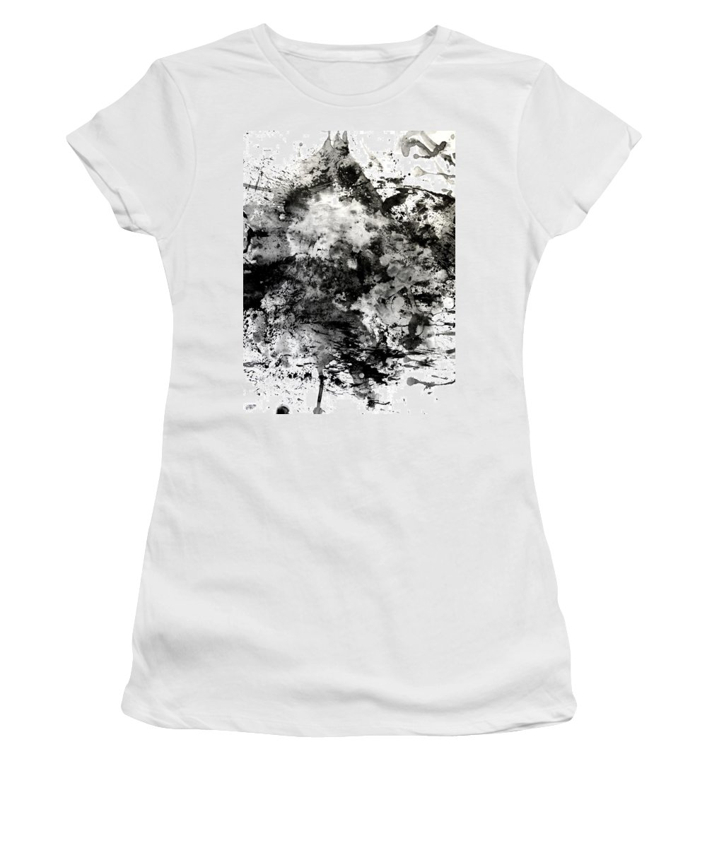 Women's T-Shirt featuring the painting No Color Needed 1 by LaDara McKinnon