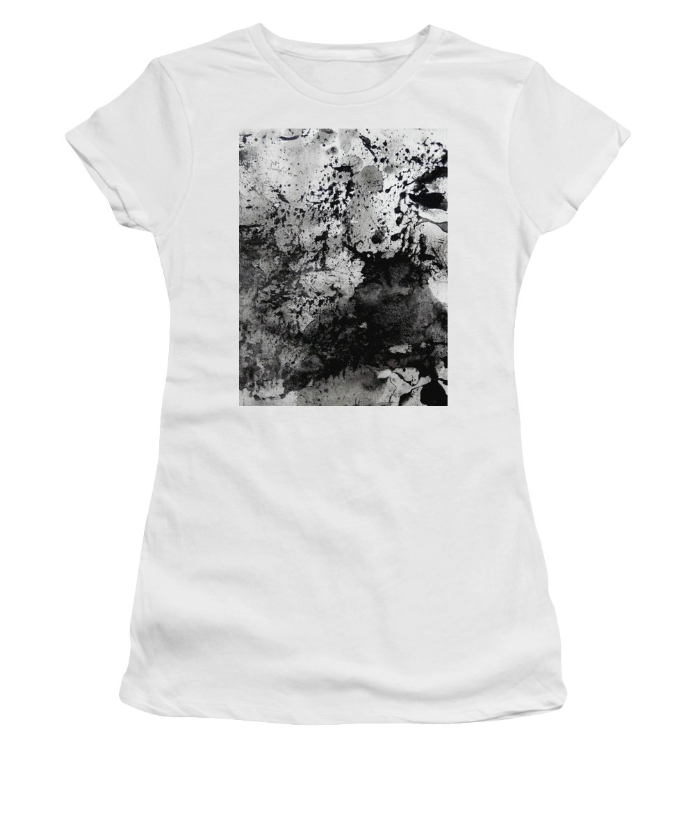 Women's T-Shirt featuring the painting No Color Needed 4 by LaDara McKinnon