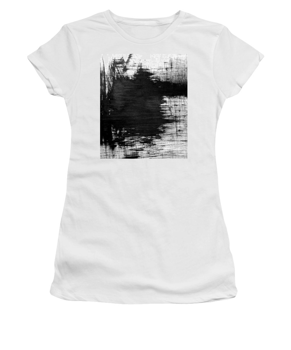 Women's T-Shirt featuring the painting No Color Needed 6 by LaDara McKinnon