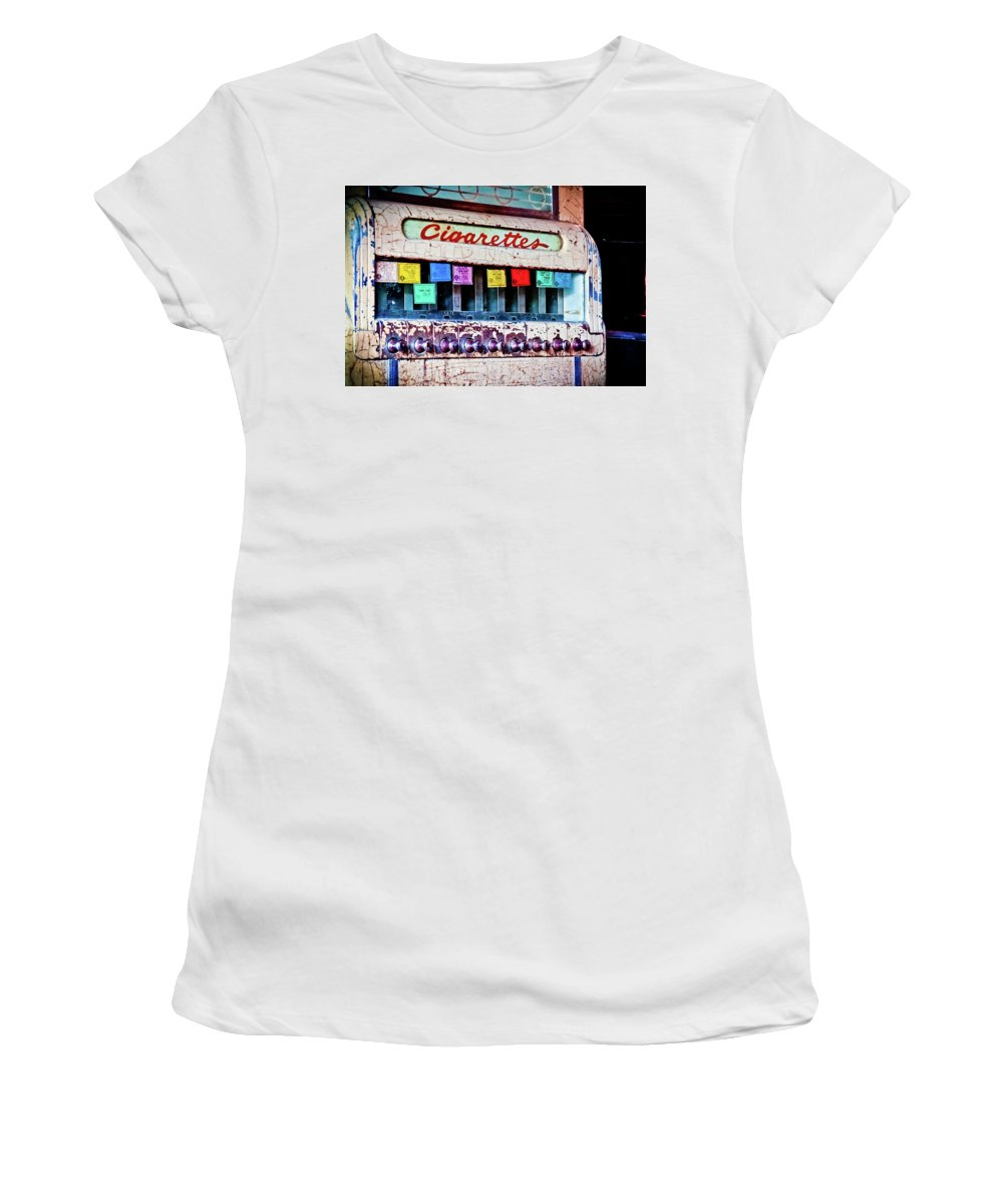 Color Women's T-Shirt (Athletic Fit) featuring the photograph No Smoking by Jill Smith
