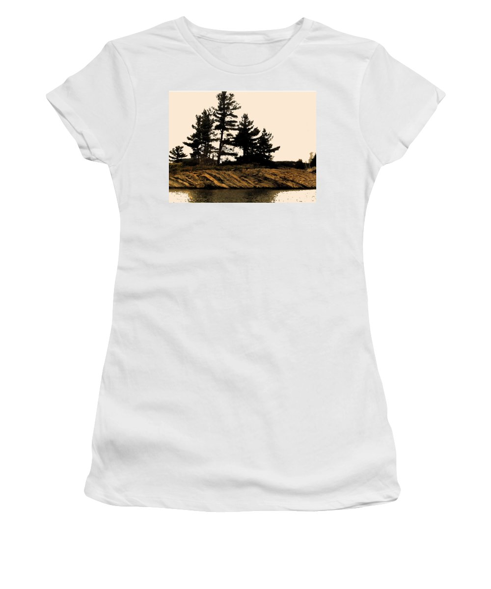 Pine Women's T-Shirt (Athletic Fit) featuring the digital art Northern Silhouette by Ian MacDonald