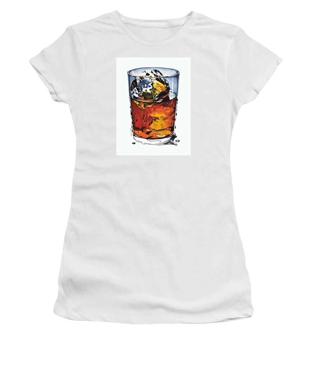 Gouache Women's T-Shirt featuring the painting Oh My Gouache by Cliff Spohn
