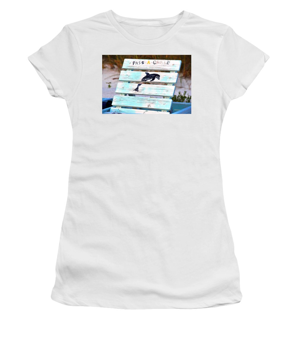 Fine Art Photography Women's T-Shirt featuring the photograph Old Beach Chair by David Lee Thompson