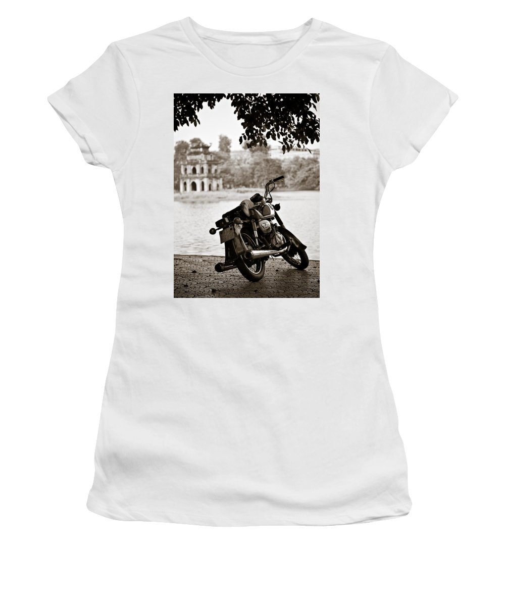 Honda Women's T-Shirt (Athletic Fit) featuring the photograph Old Honda by Dave Bowman