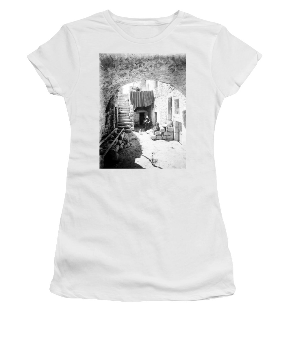 Bethlehem Women's T-Shirt (Athletic Fit) featuring the photograph Old House Court by Munir Alawi