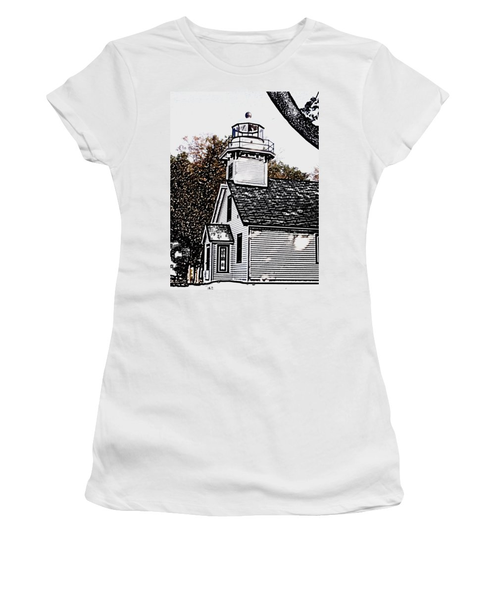 Altered Women's T-Shirt featuring the photograph Old Mission Point by Wayne Potrafka