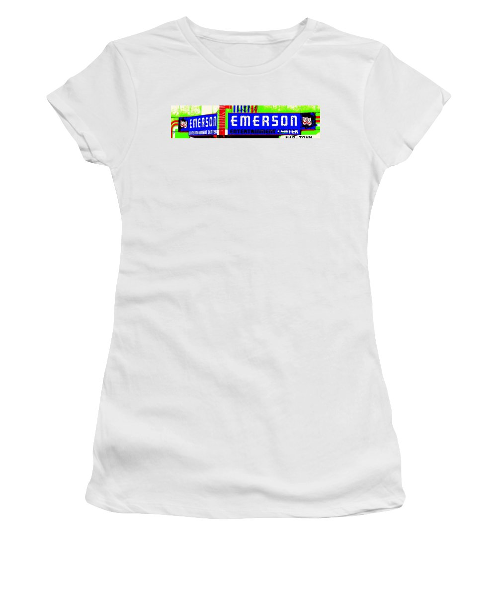 Music Women's T-Shirt (Athletic Fit) featuring the photograph Old Theater by Ed Smith