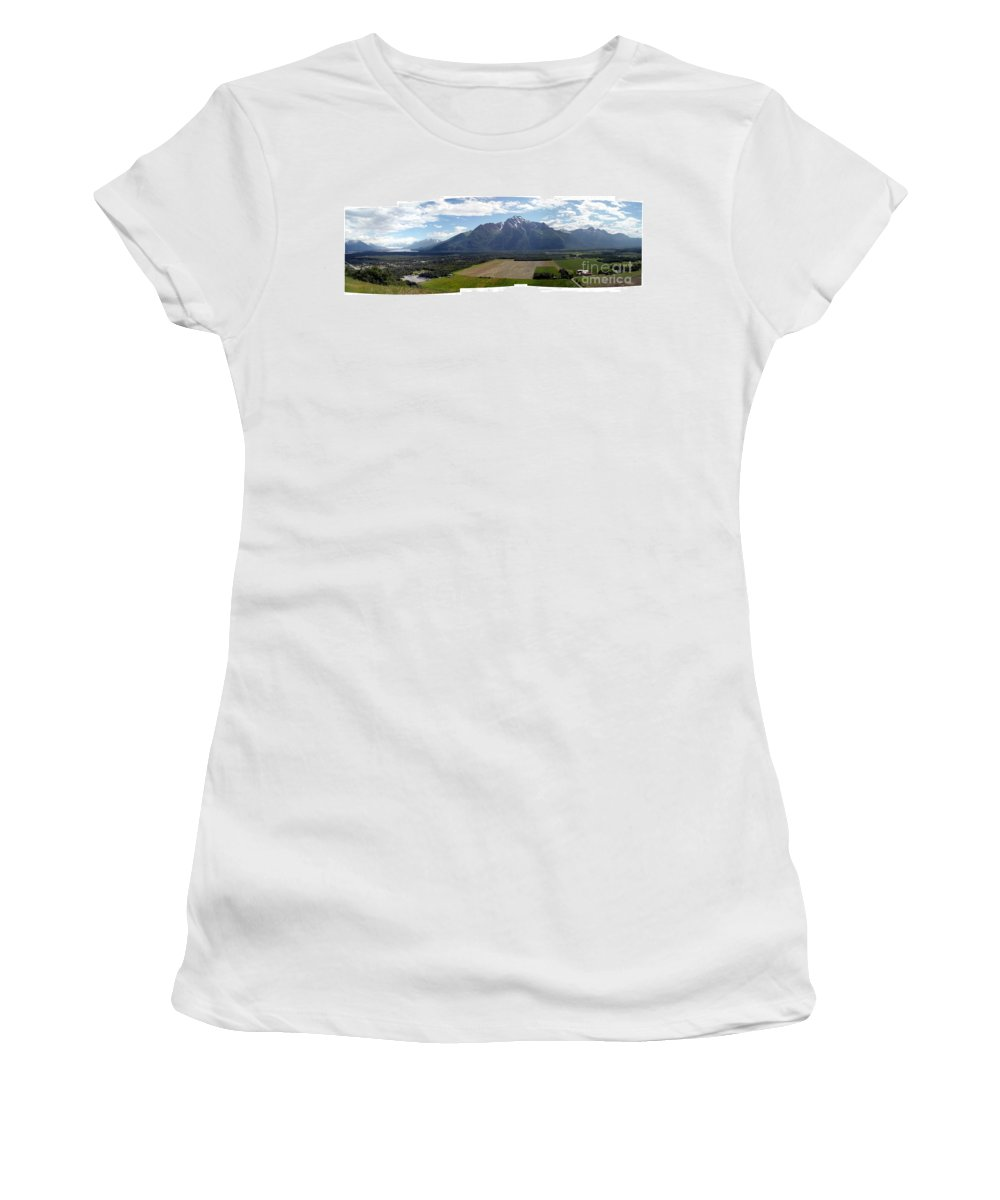Landscape Women's T-Shirt (Athletic Fit) featuring the photograph On A Butteiful Day by Ron Bissett
