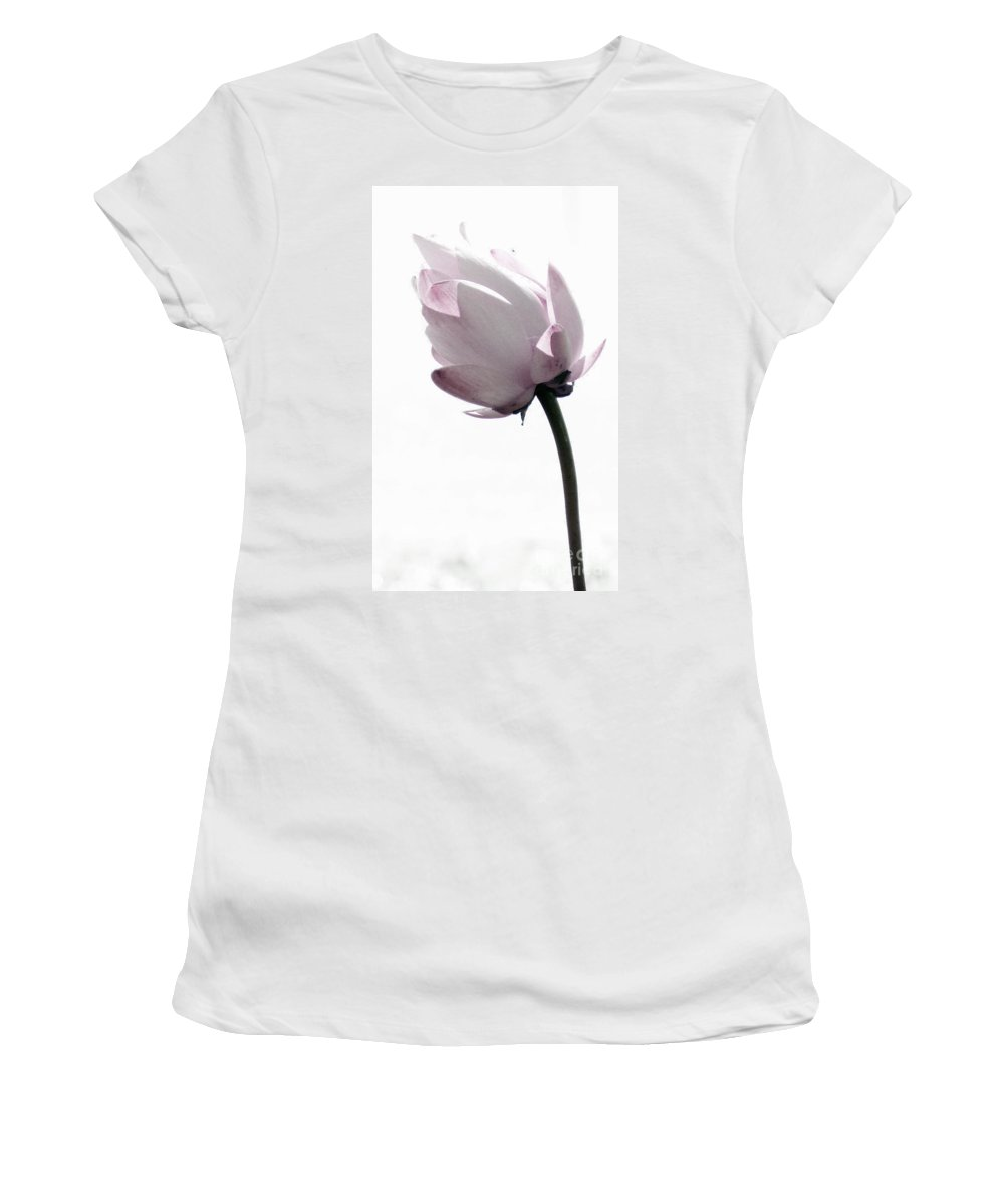 Lotus Women's T-Shirt (Athletic Fit) featuring the photograph On The Inside by Amanda Barcon