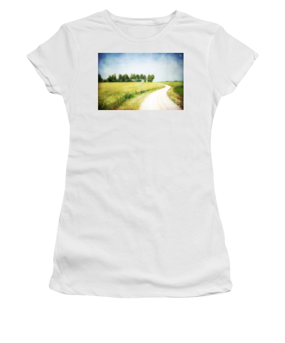 Abstract Women's T-Shirt featuring the photograph On The Way Through The Summer by Hannes Cmarits