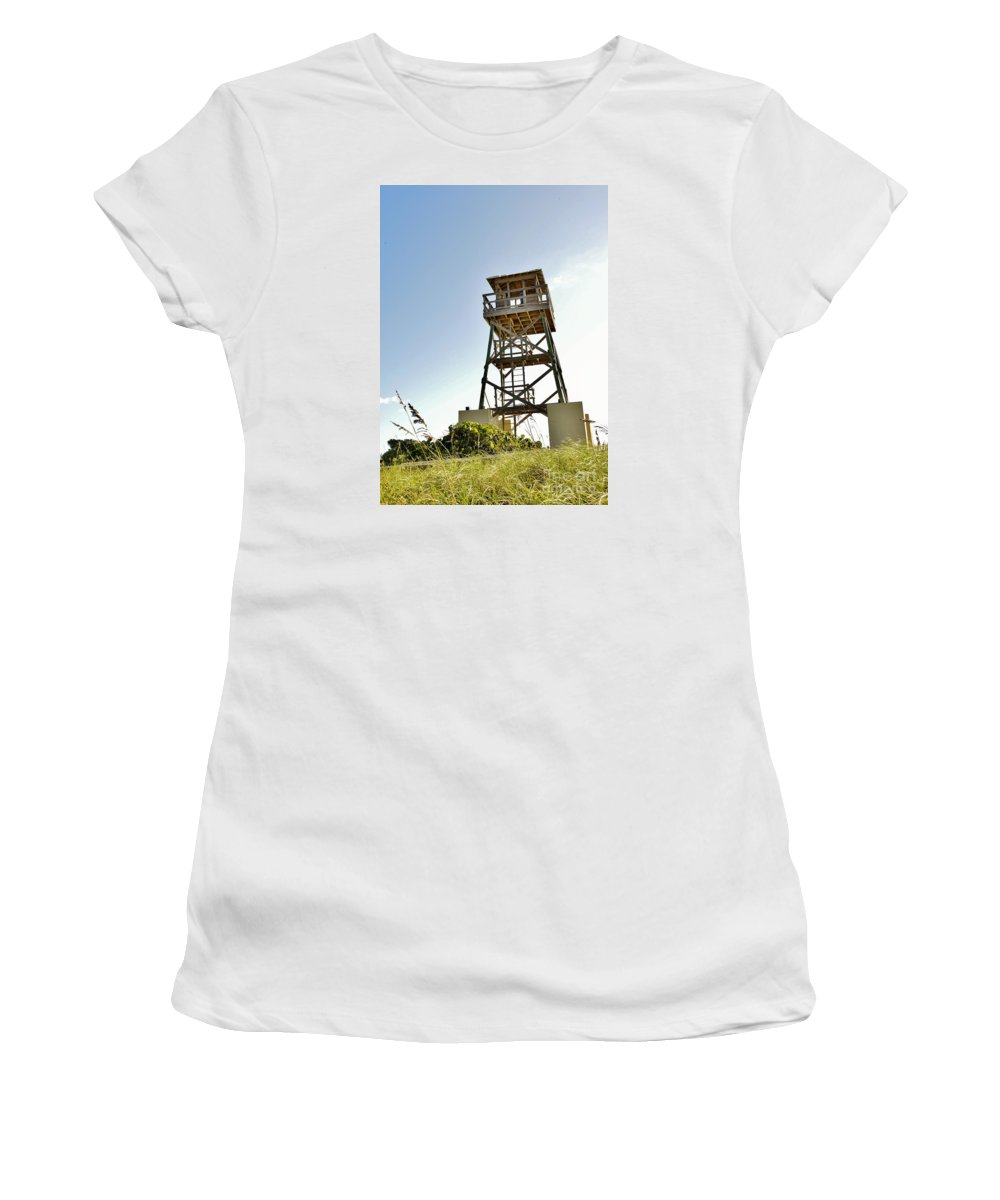 Gilbert House Of Refuge Women's T-Shirt (Athletic Fit) featuring the photograph On Watch by Lisa Renee Ludlum