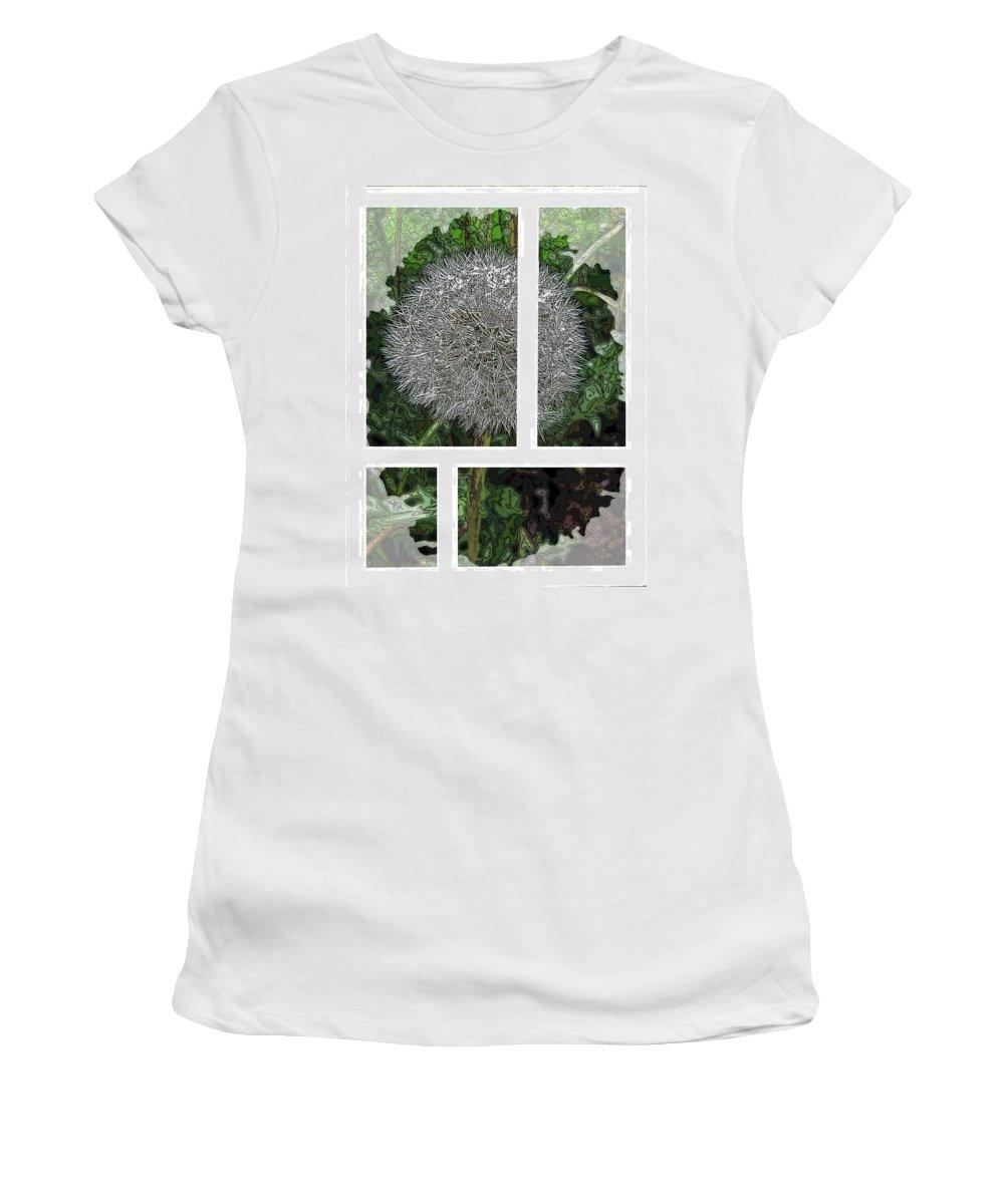 Dandilion Women's T-Shirt featuring the digital art One Dandy Lion 2 by Tim Allen