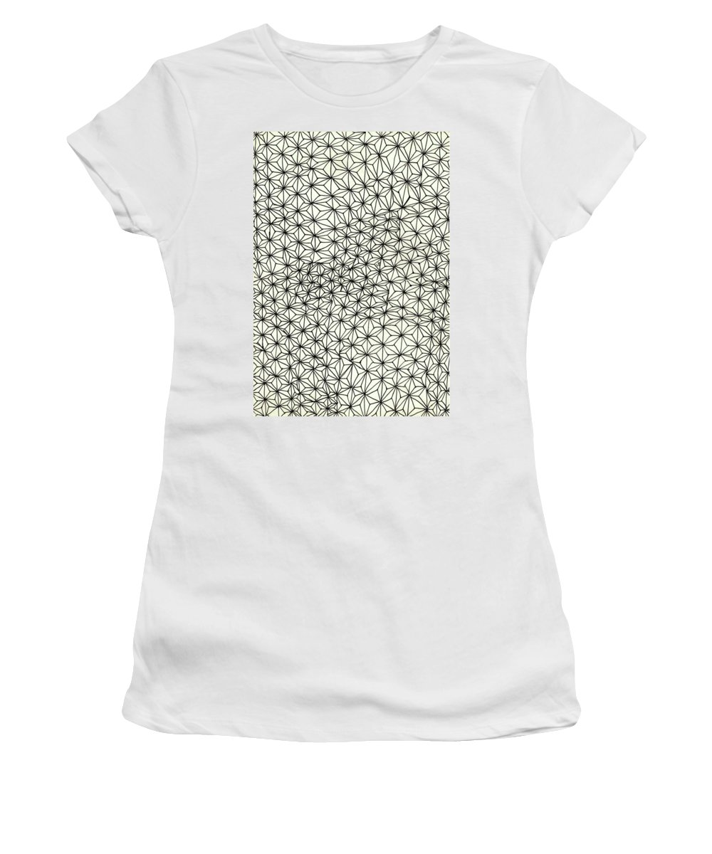 Op Women's T-Shirt (Athletic Fit) featuring the drawing Op Art Abstract Triangle Design by Eric Strickland