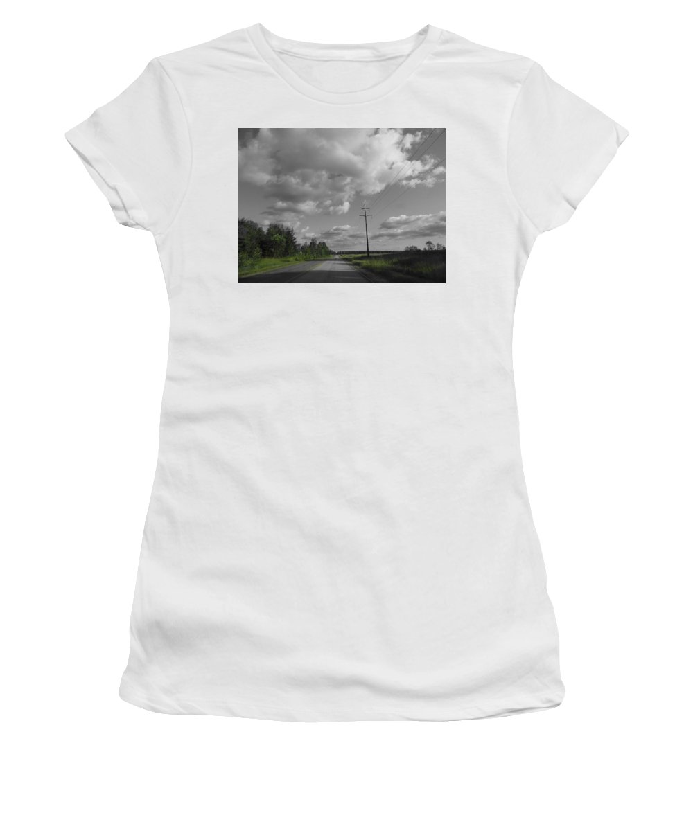Road Women's T-Shirt featuring the photograph Open Road by Two Bridges North