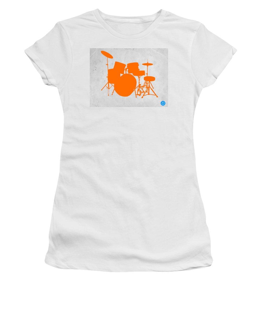 Drums Women's T-Shirt featuring the photograph Orange Drum Set by Naxart Studio