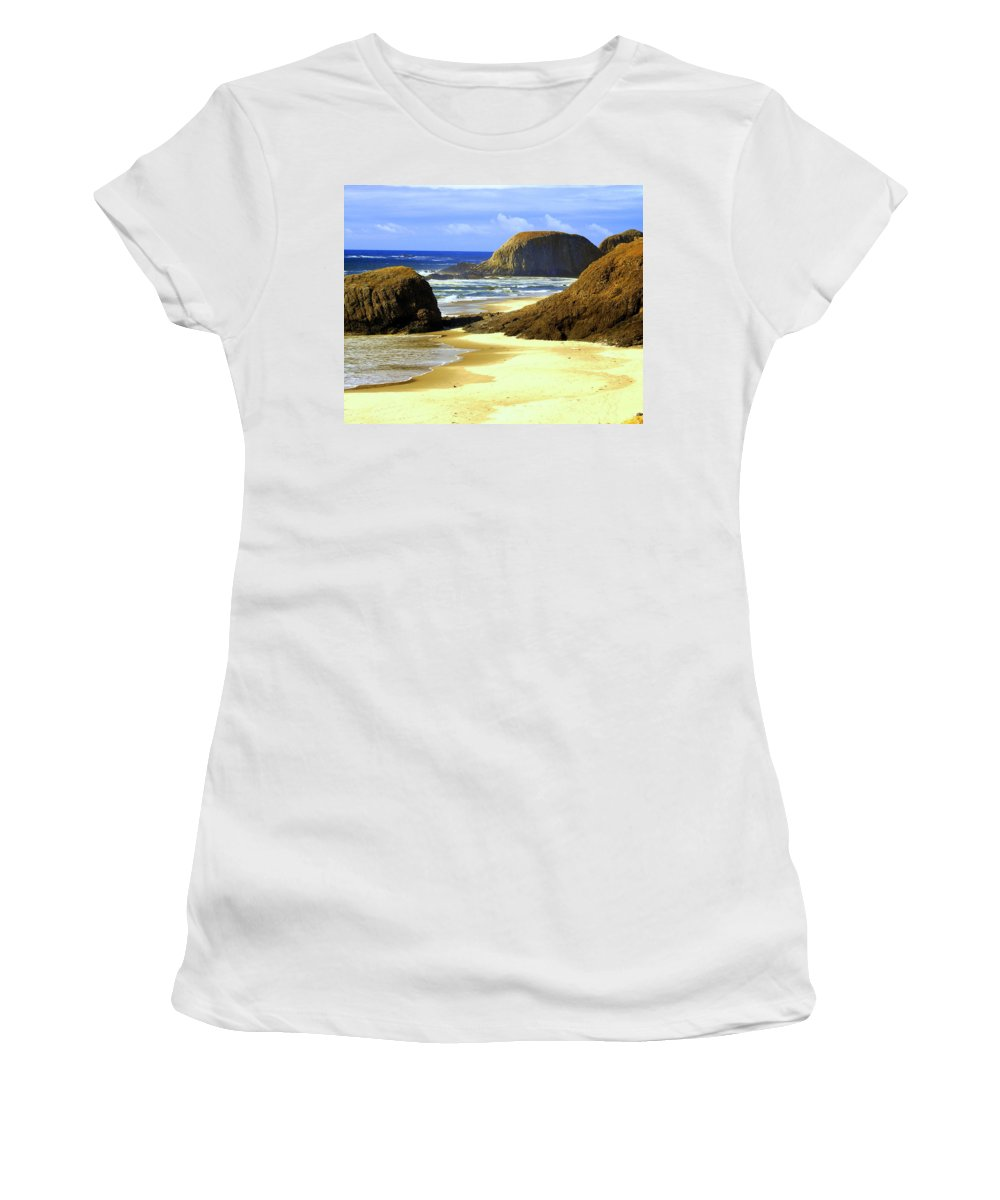Ocean Women's T-Shirt (Athletic Fit) featuring the photograph Oregon Coast 18 by Marty Koch