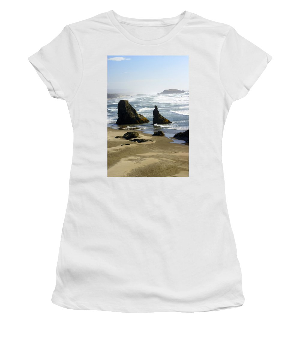 Ocean Women's T-Shirt (Athletic Fit) featuring the photograph Oregon Coast 19 by Marty Koch