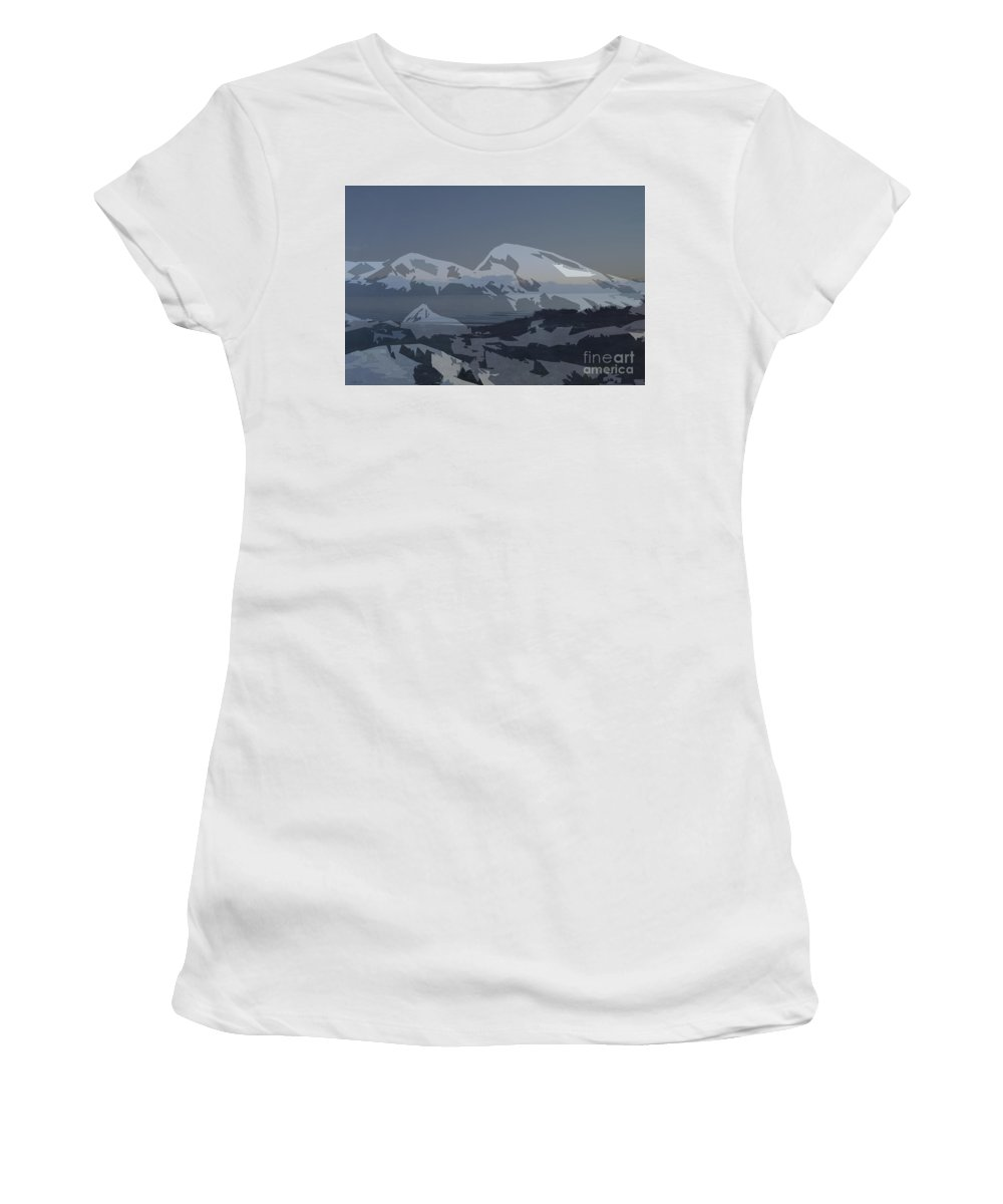 Oregon Women's T-Shirt (Athletic Fit) featuring the mixed media Oregon Coast 4 by Robert Todd