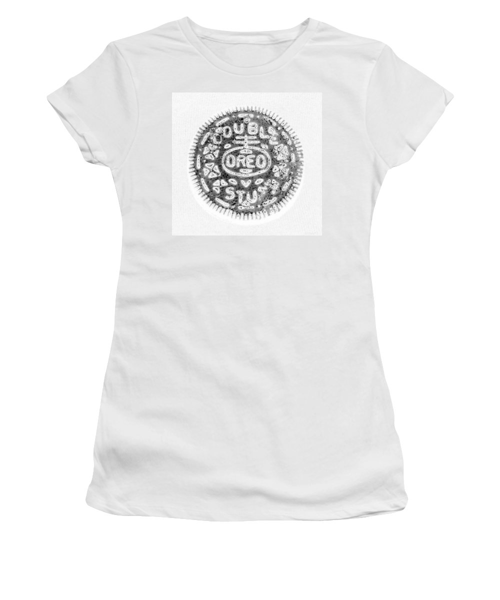 Oreo Women's T-Shirt (Athletic Fit) featuring the photograph Oreo In Negetive by Rob Hans