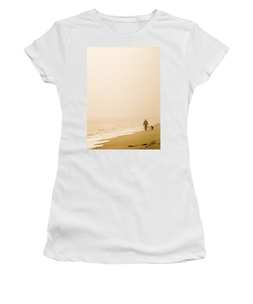 Landscape Women's T-Shirt (Athletic Fit) featuring the photograph Out Of The Mist by Steve Karol