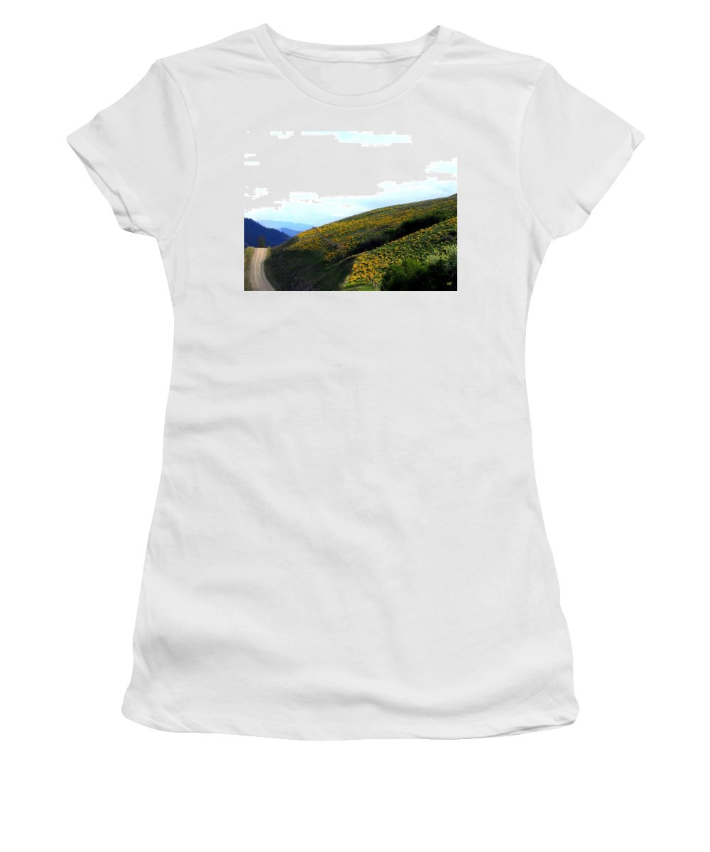 Hills Women's T-Shirt (Athletic Fit) featuring the photograph Over Hill And Dale by Will Borden