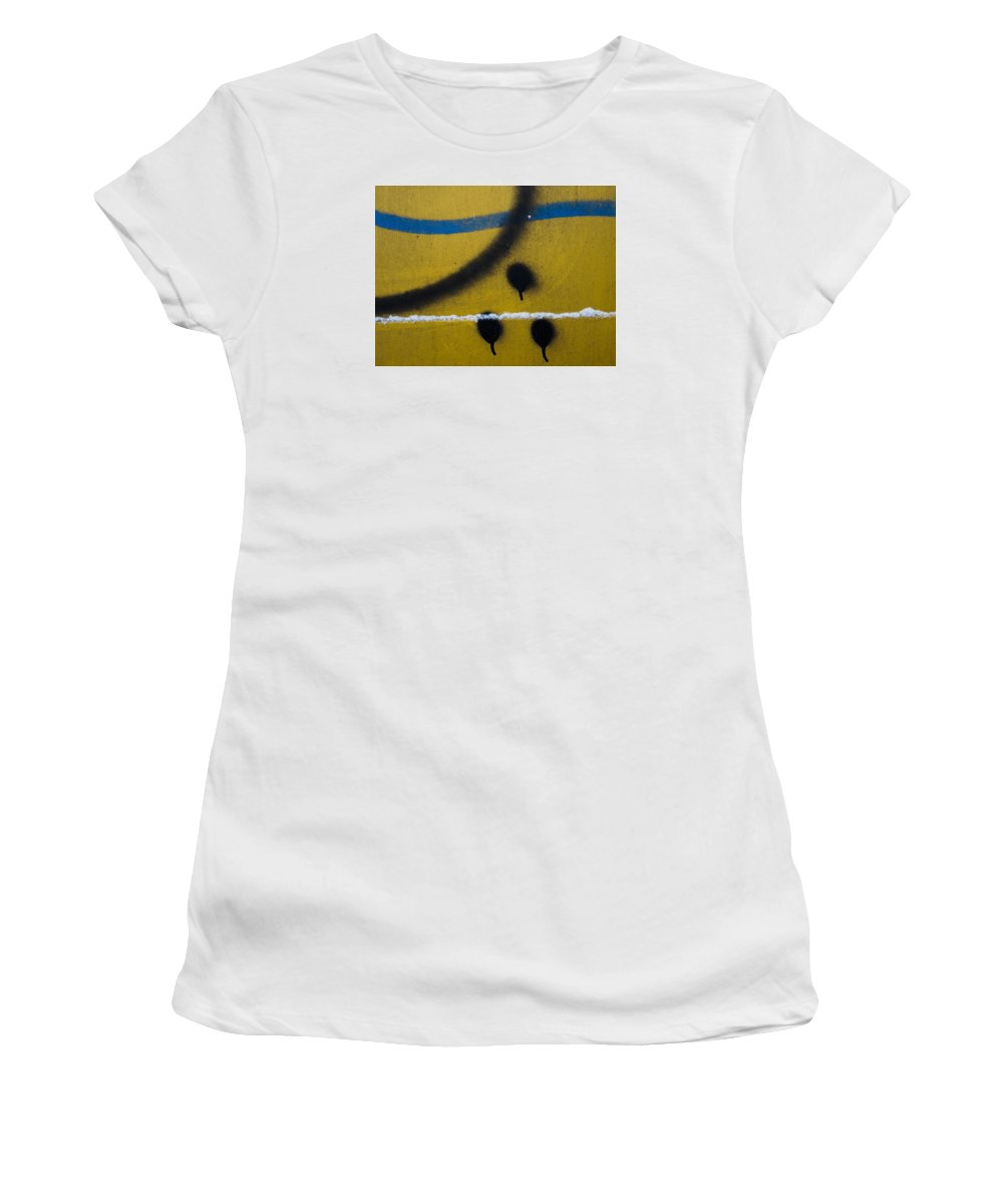Women's T-Shirt (Athletic Fit) featuring the photograph Paint #589 by Chesley House