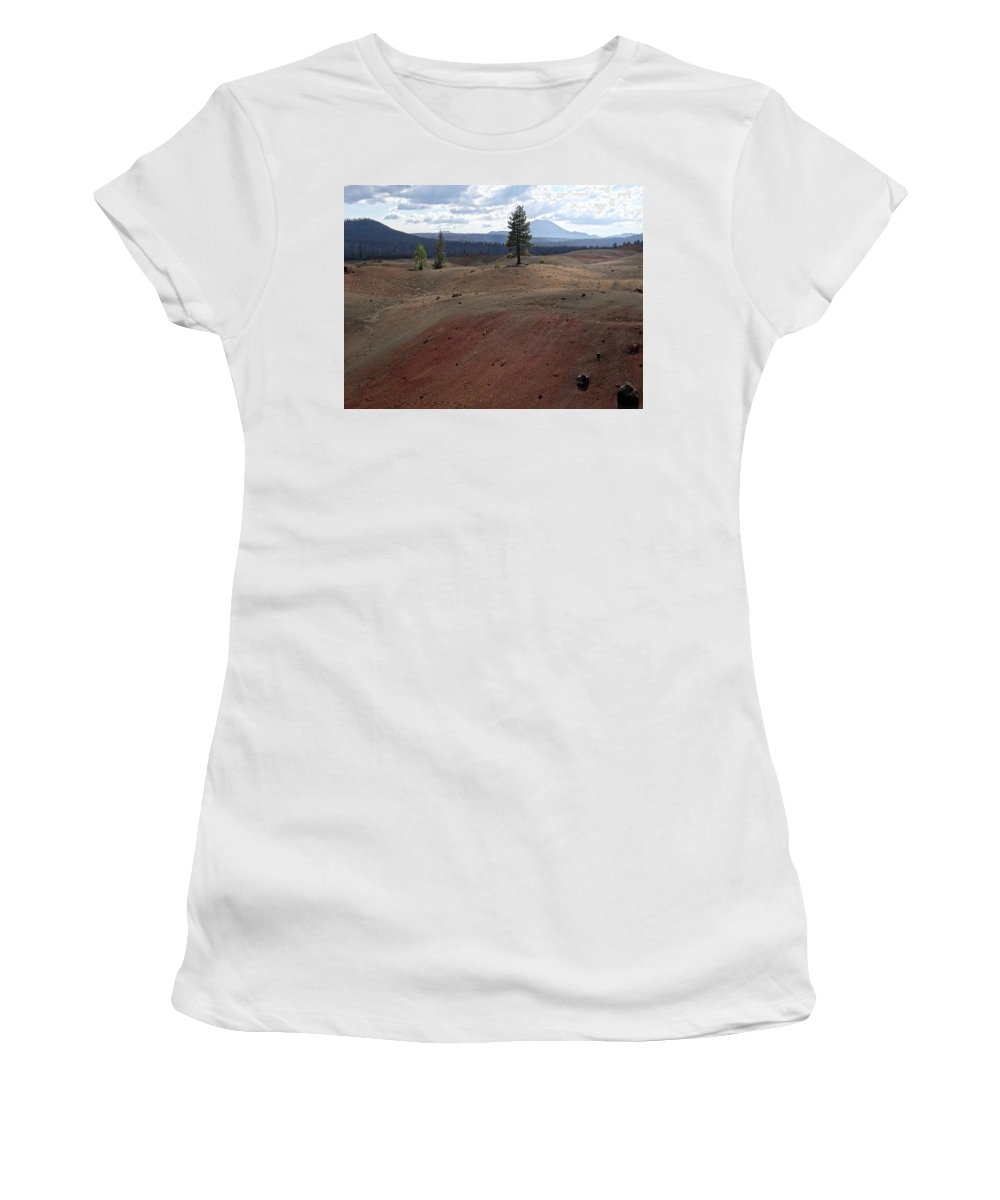 Landscape Women's T-Shirt (Athletic Fit) featuring the photograph Painted Sands by Alan Olmstead
