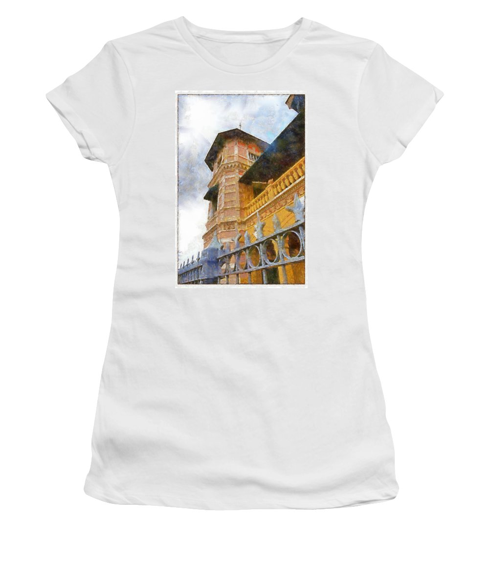 Iturriza Women's T-Shirt (Athletic Fit) featuring the photograph Palace Of The Iturriza by Galeria Trompiz