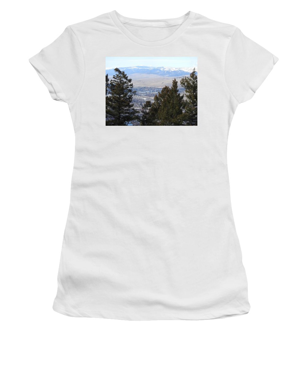 Women's T-Shirt (Athletic Fit) featuring the photograph Panoramic Picture by Dan Hassett