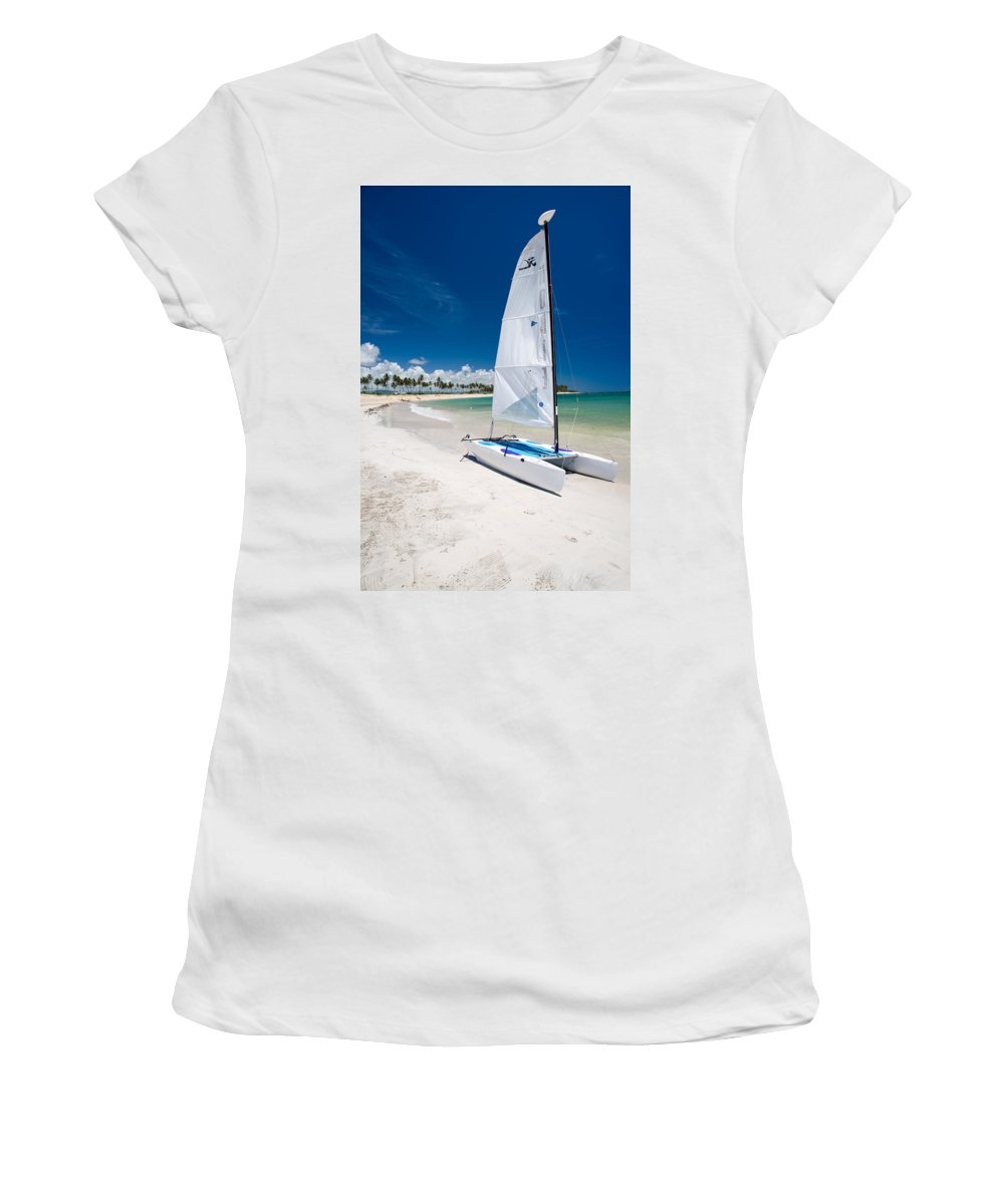 Island Women's T-Shirt (Athletic Fit) featuring the photograph Paradise Island by Sebastian Musial