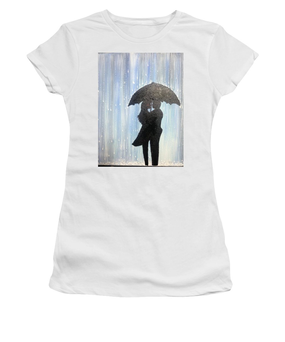Love Women's T-Shirt featuring the painting Passion by Evelyn Bloomer