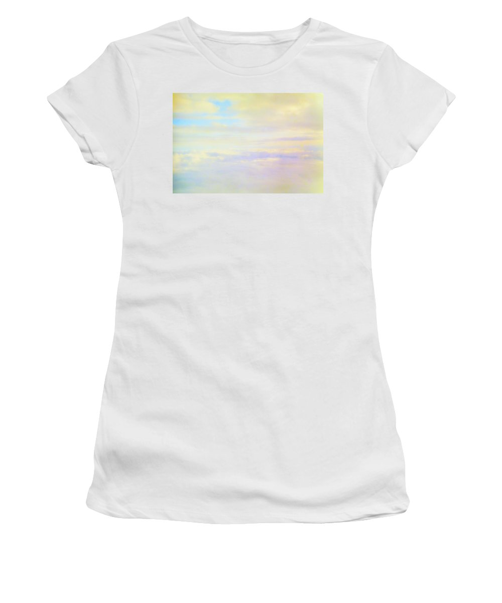 Pastel Women's T-Shirt (Athletic Fit) featuring the photograph Pastel Sky by Deborah Crew-Johnson