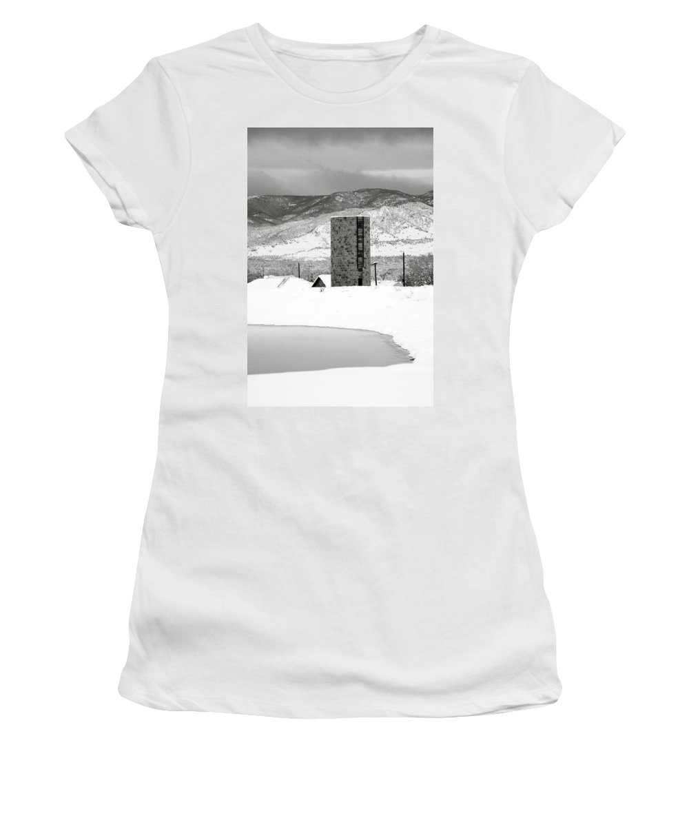 Colorado Women's T-Shirt (Athletic Fit) featuring the photograph Pastoral Winter by Marilyn Hunt