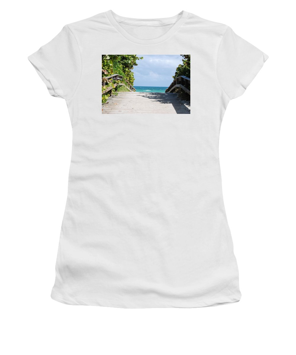 Sea Scape Women's T-Shirt featuring the photograph Path To Paradise by Rob Hans