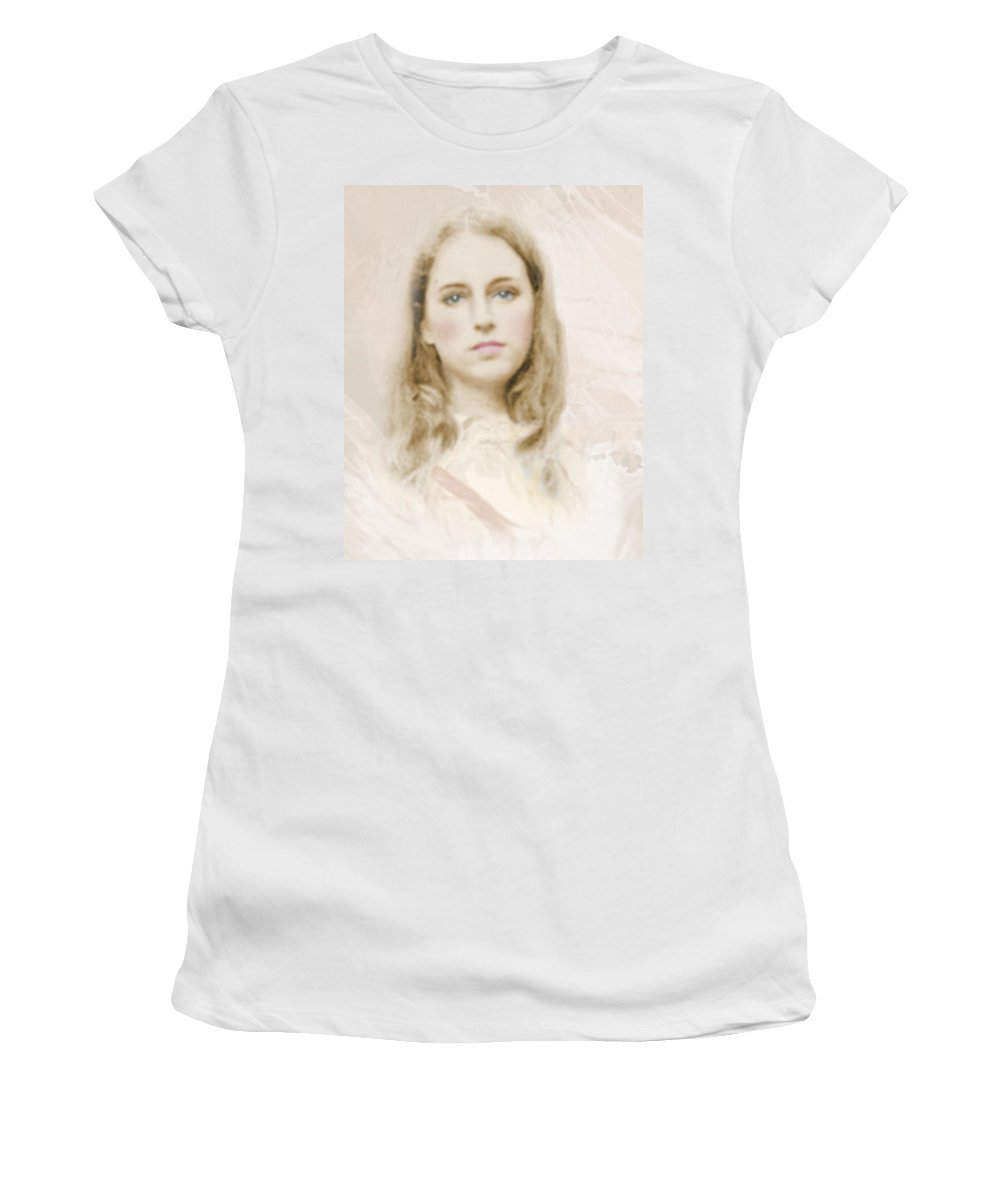 Portraits Women's T-Shirt (Athletic Fit) featuring the photograph Pathos by Karen W Meyer