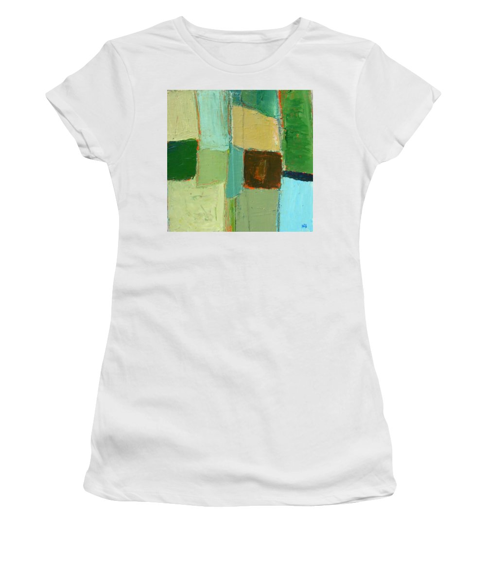 Women's T-Shirt (Athletic Fit) featuring the painting Peace 2 by Habib Ayat