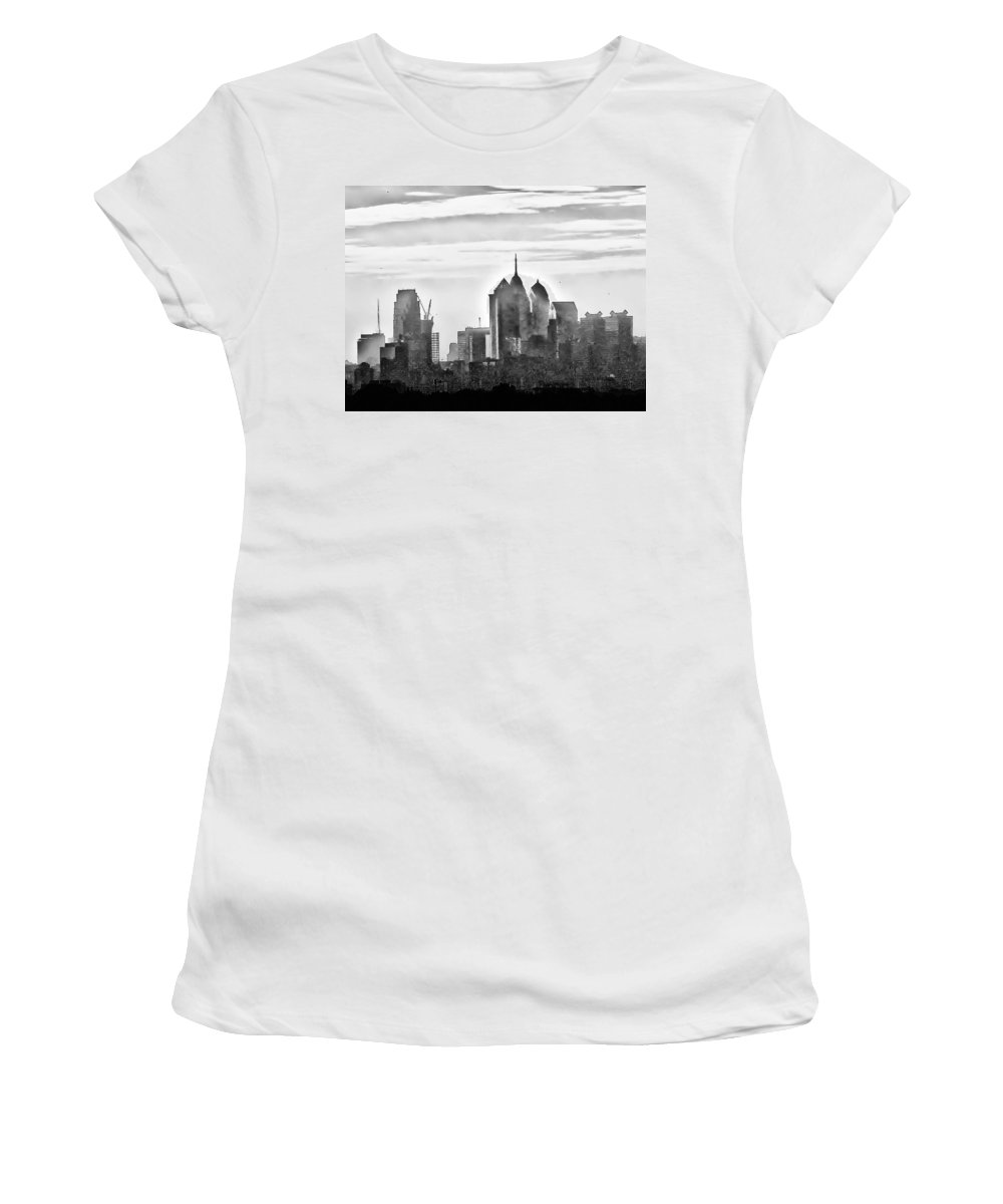 Philadelphia Women's T-Shirt (Athletic Fit) featuring the photograph Philadelphia by Bill Cannon