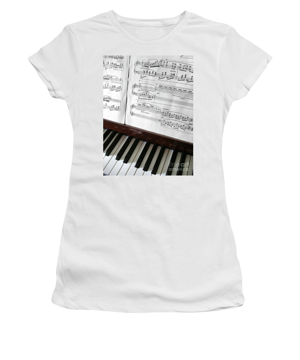 Acoustic Women's T-Shirt (Athletic Fit) featuring the photograph Piano Keys by Carlos Caetano