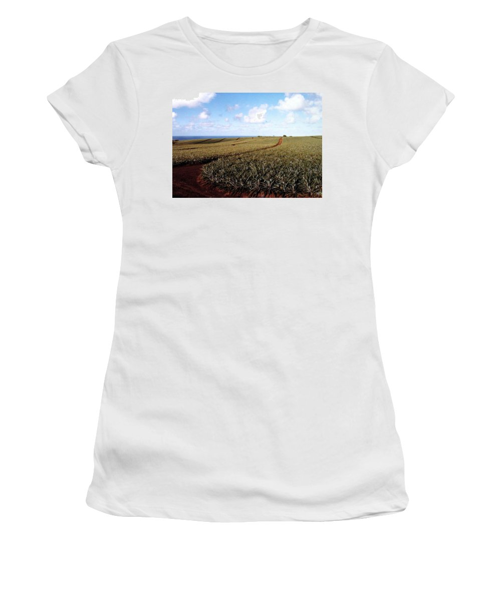 1986 Women's T-Shirt (Athletic Fit) featuring the photograph Pineapple Fields by Will Borden