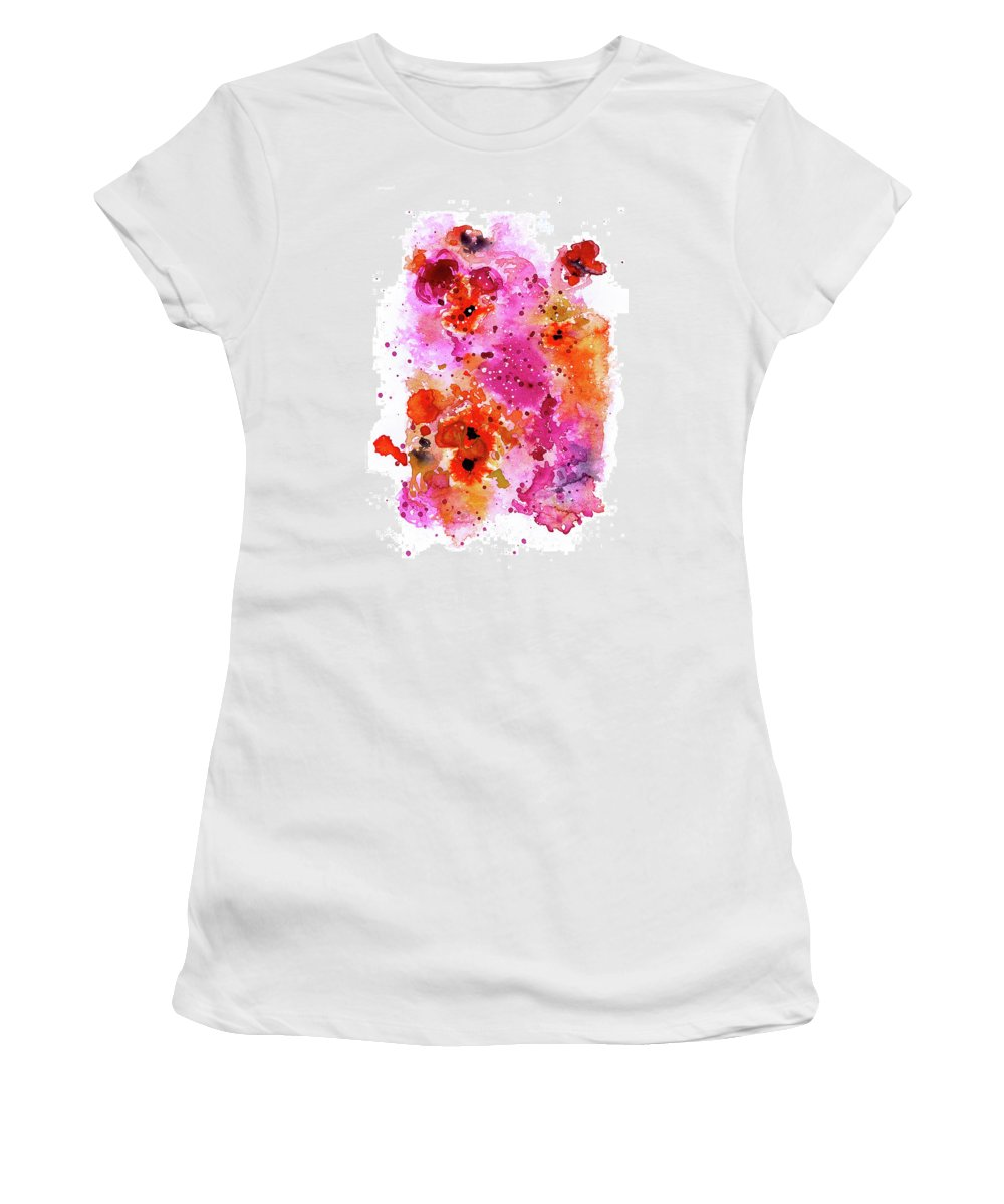 Pink Women's T-Shirt (Athletic Fit) featuring the painting Pink Reef by Tonya Doughty