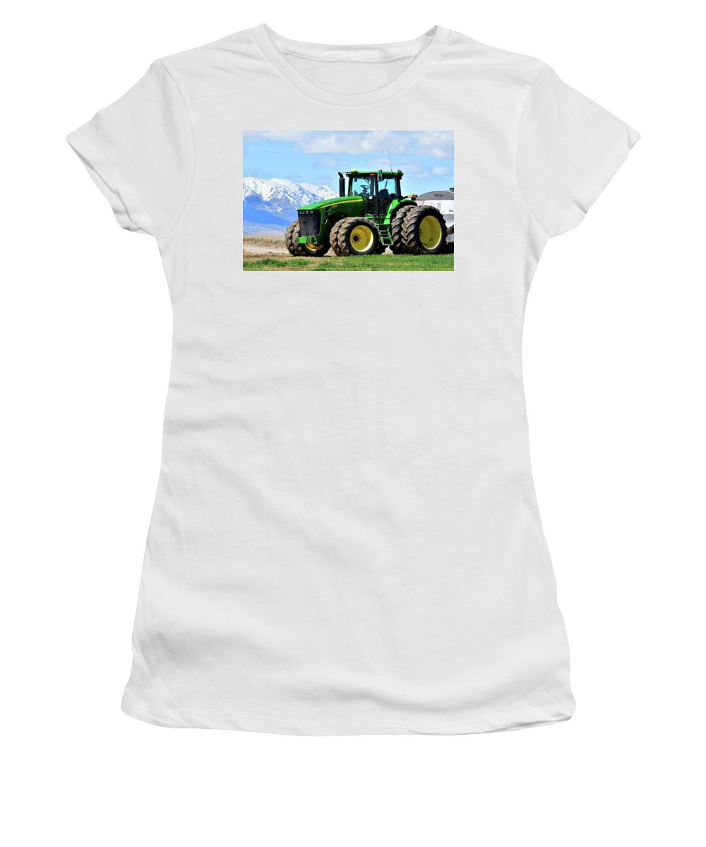 Farming Women's T-Shirt featuring the photograph Planting Time by Michael Morse