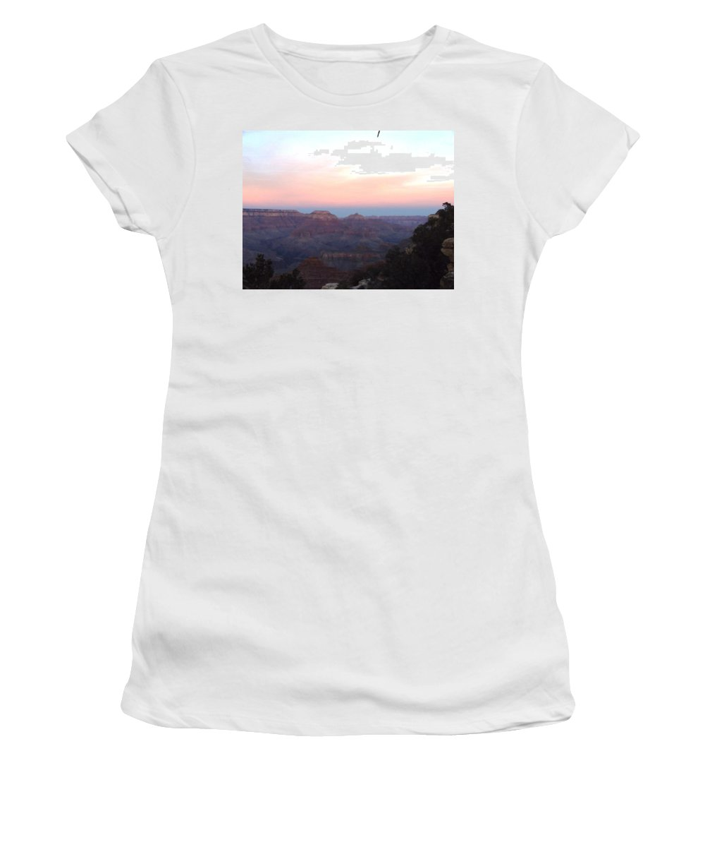 Women's T-Shirt featuring the photograph Pleasant Evening At The Canyon by Adam Cornelison