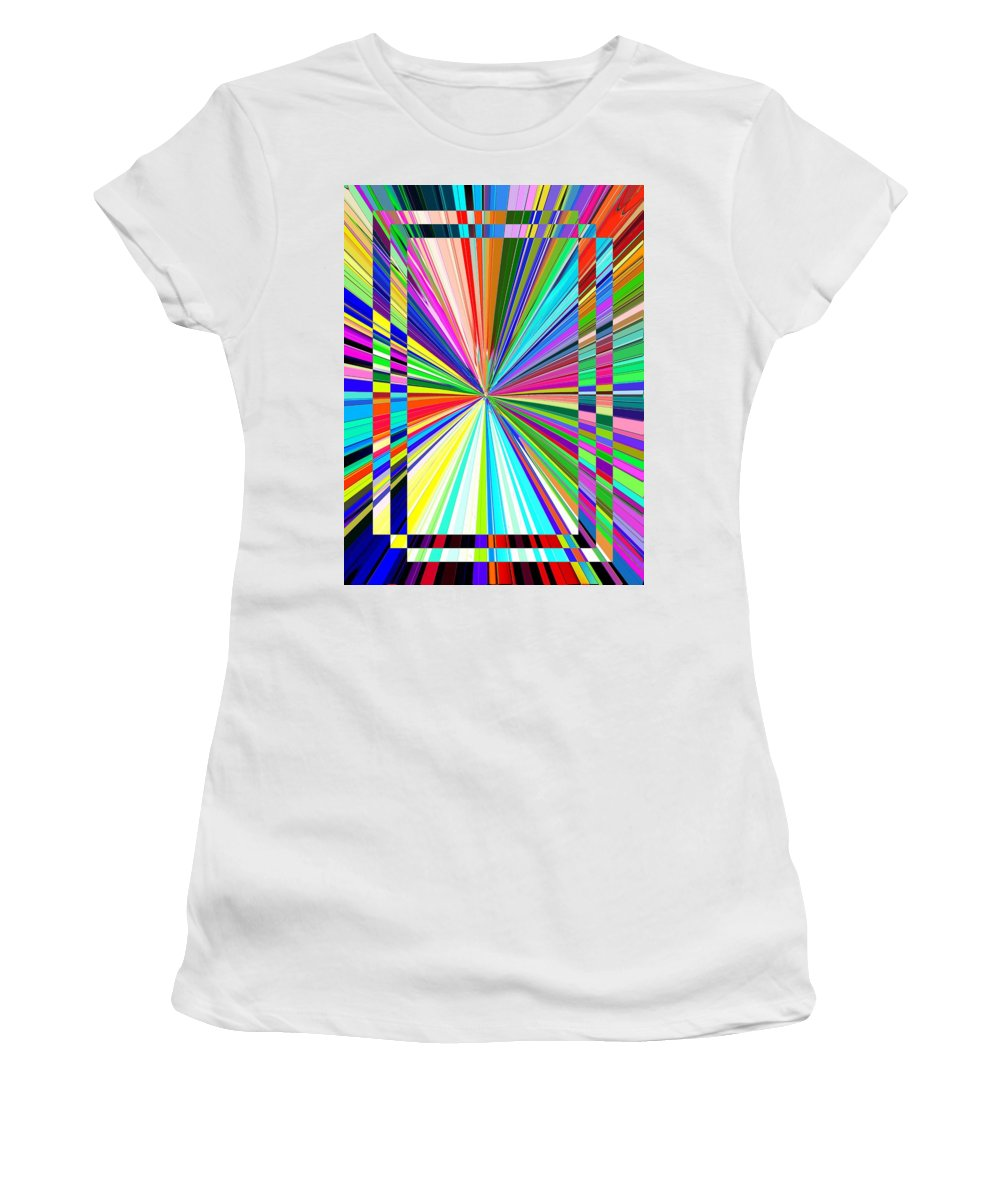 Abstract Women's T-Shirt (Athletic Fit) featuring the digital art Portal 2 by Tim Allen
