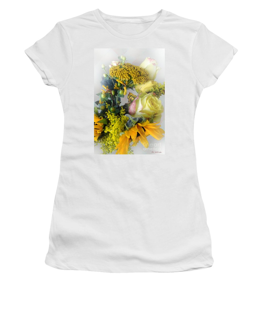 Bouquet Women's T-Shirt (Athletic Fit) featuring the photograph Posies Picturesque by RC DeWinter
