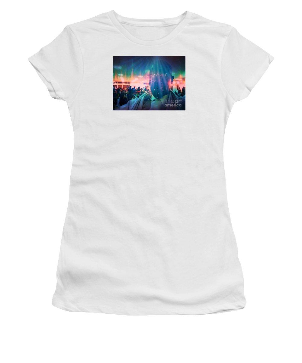 Fania Simon Women's T-Shirt (Athletic Fit) featuring the photograph Presence by Fania Simon