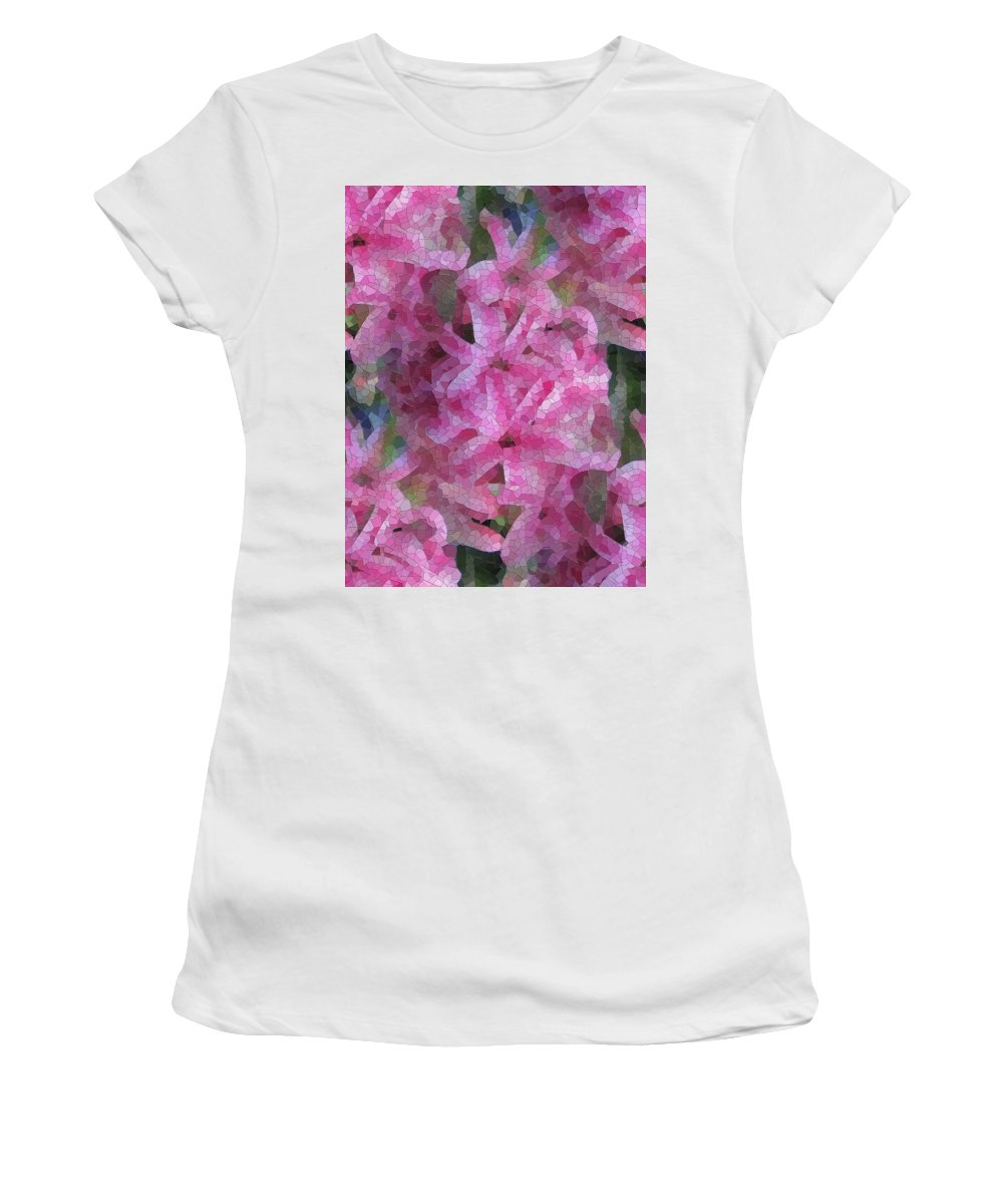 Flowers Women's T-Shirt (Athletic Fit) featuring the digital art Pretty In Pink by Tim Allen