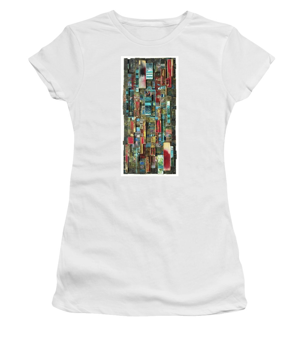 Street Art Women's T-Shirt featuring the painting Pretty Like Drugs by Bobby Zeik